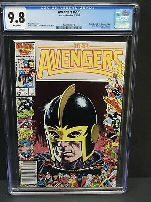 Marvel Comics Avengers #273 1986 Cgc 9.8 White Pages John Buscema Cover