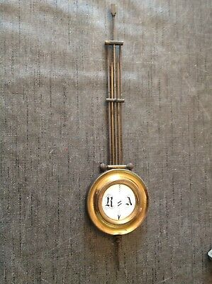 Antique Brass French Clock Pendulum 322g 83mm Diameter 340mm Long Spare Parts