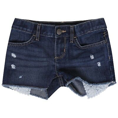 Girls Denim Shorts Kids Childrens Summer Holiday