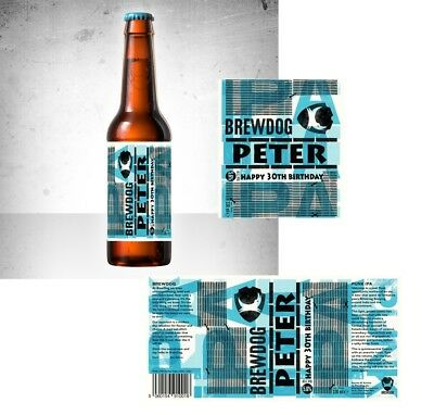 2 BREW DOG Punk Ipa Personalised Beer Bottle Label - Cheapest On Ebay  !!Look!!