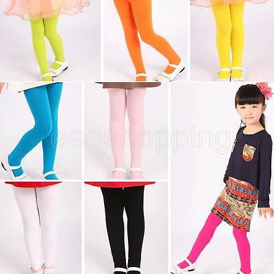 Candy Color Girls Kids Baby Tights Stockings Pantyhose Socks Ballet Dance Pants.