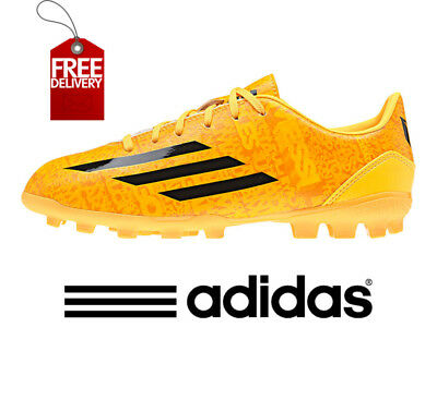 timeless design 51910 f84d6 adidas F10 Messi AG Boys Football Boots Astro Kids Junior Boot Gold UK 4,5