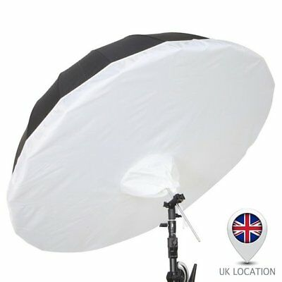 Selens 165cm Parabolic Black Silver Umbrella + Removeable Diffusion Studio Photo