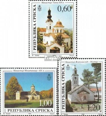 Serbian Republic bos.-h 36-38 mint never hinged mnh 1994 Monastery