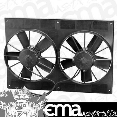 """11"""" Dual Electric Thermo Fans (2720 cfm  - Puller Type With Straight Blades) (SP"""