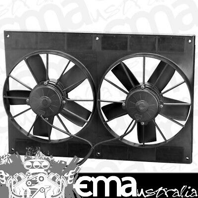 "11"" Dual Electric Thermo Fans (1587 cfm  - Puller Type With Straight Blades) (SP"