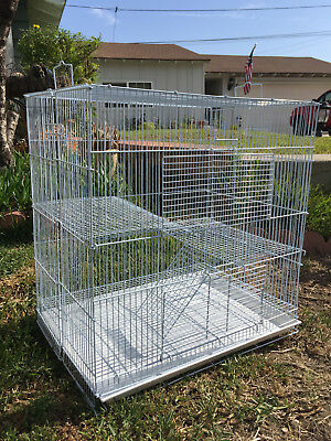 "24"" Chinchilla Guinea Pig Rat Hamster Mice Mouse Rat Small Animal Habitat Cage"