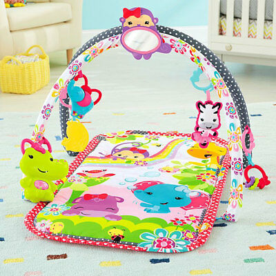 Fisher Price 3 in 1 Musical Infant Activity Gym with Play Mat and Critters