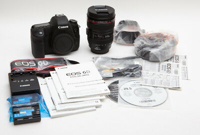 Canon EOS 6D 20.2MP Digital SLR Camera Kit w/ EF 24-105mm f/4L IS Lens * LOW USE