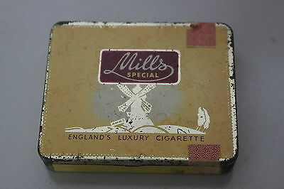 tolle Zigaretten Blechdose Mills Special England´s Luxury Cigarette -RARE Tin