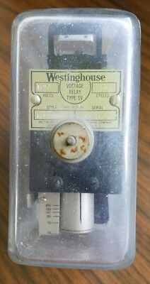 Vintage SQUARE GLASS Westinghouse Voltage Relay  Meter Type SV