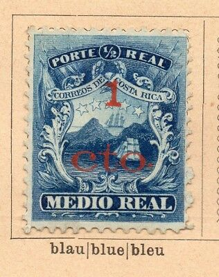 Costa Rica 1881-82 Early Issue Fine Mint Hinged 1c. Surcharged 252214
