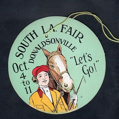 C525 South LA Fair Donaldsonville horse rider back and front identical