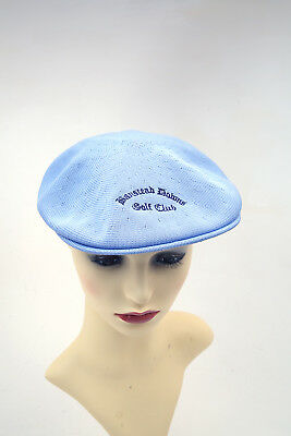 KANGOL Authentic VINTAGE Flat Golf Cap Hat in SKY BLUE GOLF Small
