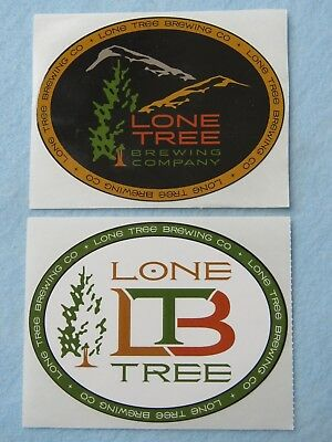 2 Collectible Beer STICKERS ~*~ LONE TREE Brewing Co ~ Highlands Ranch, COLORADO