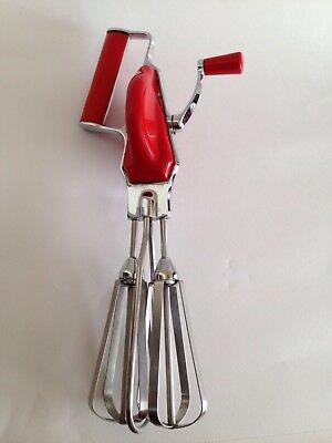 Vintage Tala Hand Whisk - Red