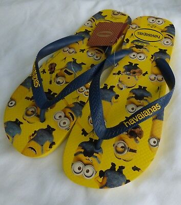 fdf4e3077afa HAVAIANAS Minions US Mens Sz 11 Yellow Flip Flops Relax Brand New with Tags
