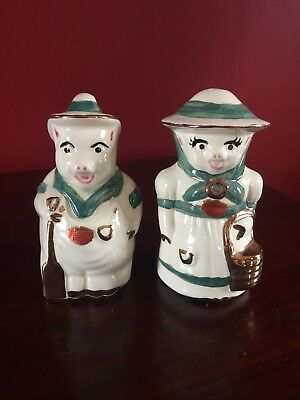 Shawnee Pottery Farmer And Sowly Pig Salt And Pepper