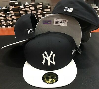 d9f84450a19f69 New Era cap 5950 New York Yankees Batting Practice Hat Fitted 59fifty Navy  White