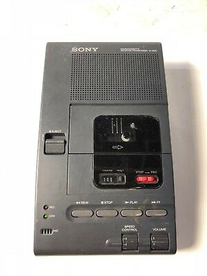 Used Sony microcassette dictator transcriber M2020 No Power Adapter