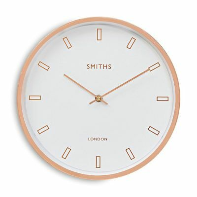Smiths Clocks Rose Gold And White Wall Clock