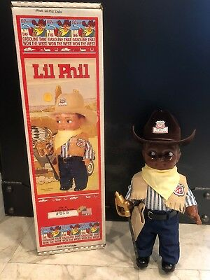 Black Lil Phil Doll, No. 4 in Collector Series, #059, Box included, Made in USA