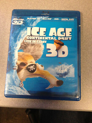 Ice Age: Continental Drift (Blu-ray Disc, 2012, Canadian 3D)