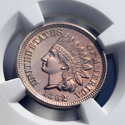 Uncirculated 1862 Indian Head Cent NGC (4697211-001)