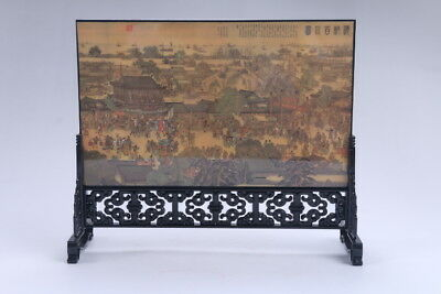 """Ancient Chinese Good Chinese Painting  """"peoples """"Screen Scroll  aa492d"""