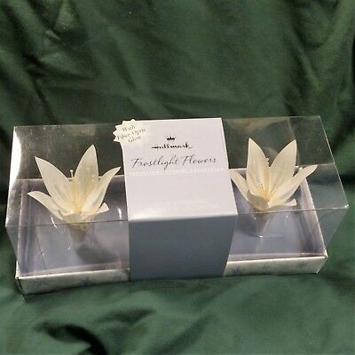 NIB 2001 Hallmark Frostlight Flowers Ornament Set Faeries Silk & Fiber Optic NEW
