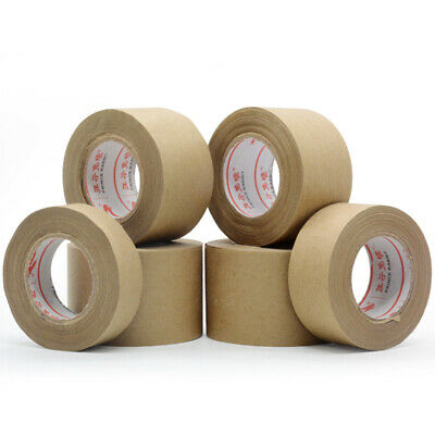 30m Gummed Kraft Brown Paper Tape Bundled Sealed Water Activated Carton Painting