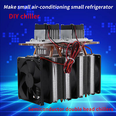 144W 12V 5 A Dual-core Semiconductor Refrigeration Peltier Air Cooling DIY Tool