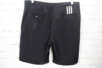 611098b0d0e9 ADIDAS Climalite 3-Stripe Tech Flat Front Golf Shorts Men s Size 40 Black