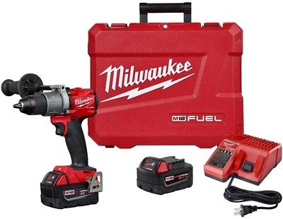 MILWAUKEE 1/2 In Hammer Drill Driver Kit 18 Volt Lithium Ion Brushless Cordless