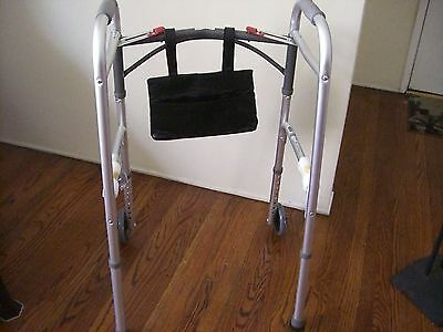 Wheelchair, Walker Rollator Mobility Pouch Bag Storage Pocket Wallet Strap