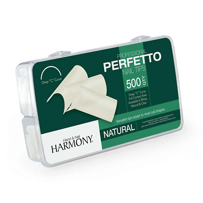Harmony Perfetto Nail Tips Natural 500ct Acrylic Gel Extensions Enhancements