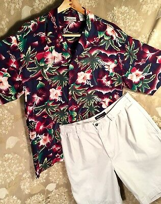 Ready To Wear Outfit Men's Perry Ellis Shorts Size 36 & Bugle Boy Shirt Large