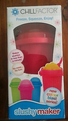 Chill Factor Red Slushy Makers Frozen Ice Drink Unopened