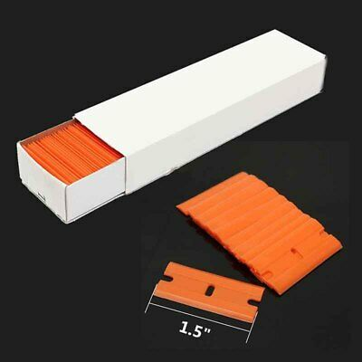 100 Pcs Plastic Razor Scraper Blades Double Edge For Window Film Handle Tool
