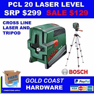 Bosch Pcl 20 Self-Levelling Cross Line Laser Level With Tripod