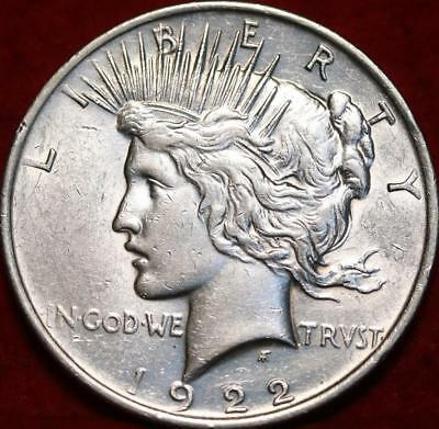 1922 Philadelphia Mint Silver Peace Dollar