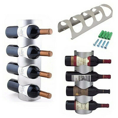 Excellent Houseware Metal Wall Mounted 3/4 Bottle Wine Holder Storage Rack WO