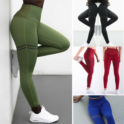 Womens Sports YOGA Pants Workout Gym Fitness Leggings Jumpsuit Athletic Clothes