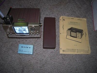 SONY TV 400-U  vintage micro tv!  with extras works but sold as parts or repair
