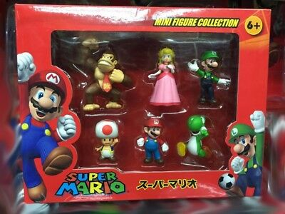 2018 NEW Cartoon Action Figure Set Super Mario Animation Game Toy GIFT With box