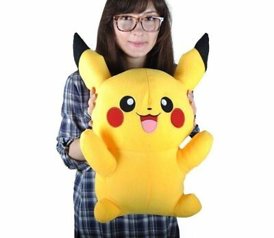 "New 24"" 60CM Cute Giant Big Size Pikachu Pokemon Plush Doll -Soft Stuffed Toy"