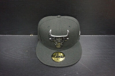 a867c643b4d Chicago Bulls New Era 59Fifty Fitted Hat Leather Face Bull Logo Size 7 1 2