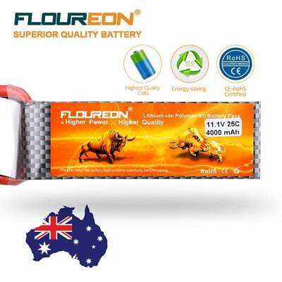 Floureon 3S 11.1V 4000mAh 25C with T Plug LiPo Battery Pack for RC Evader BX Car