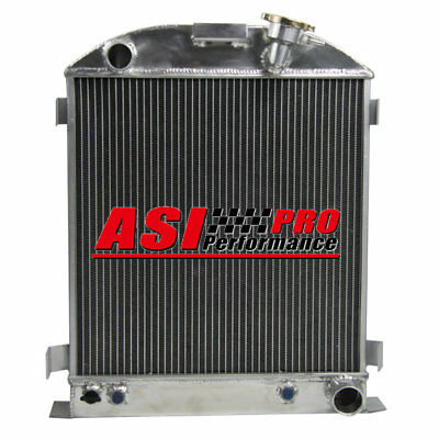 4 ROW/CORE Aluminum Radiator For Ford 1932 chopped w/Chevy 350 V8 Engine PRO