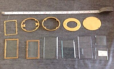 Antique Carriage Clock Parts Doors Frame Bevelled Glass Case Parts Etc.
